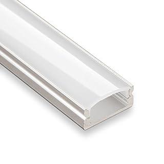 5 Stück SO-TECH® LED Profil-22 mit opalfarbiger Abdeckung je 2m für LED Streifen