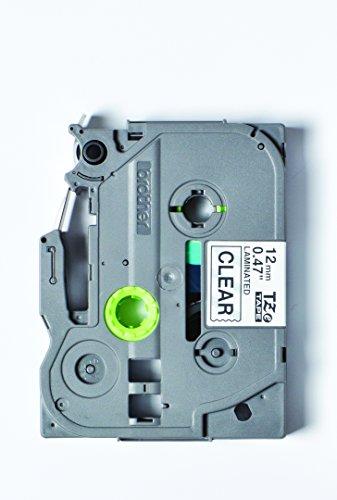 Brother Original P-touch Schriftband TZe-131S 12 mm, schwarz auf transparent (kompatibel u.a. mit Brother P-touch PT-H100LB/R, -H105, -E100/VP, -D200/BW/VP, -D210/VP) 4 m lang