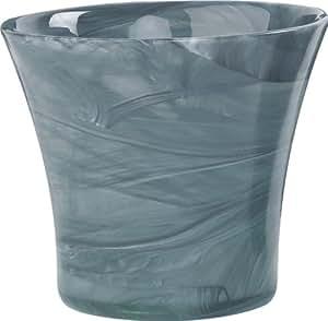 Ecoware 70071AQ Blumentopf, recyclebares Glas in Alabasteroptik, 11,5 cm Innendurchmesser, nach oben geweitet, aqua