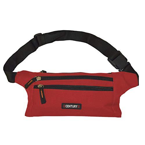 Century Martial Arts 4 Fächer Bauchtasche Gürteltasche Hüfttasche Jogging Wander Gürtel Tasche (Farbe: Rot) 800 Ipod