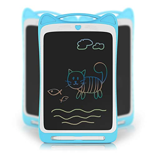Richgv LCD Writing Tablet Zeichentafel Schreibtafel Drawing Pad Malen Board (11 Zoll, Kätzchen, Bunte, Blau) - Pad Sketch Tablet