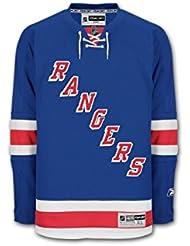 Reebok Rangers de Nueva York Premier Jersey Senior, color azul, azul