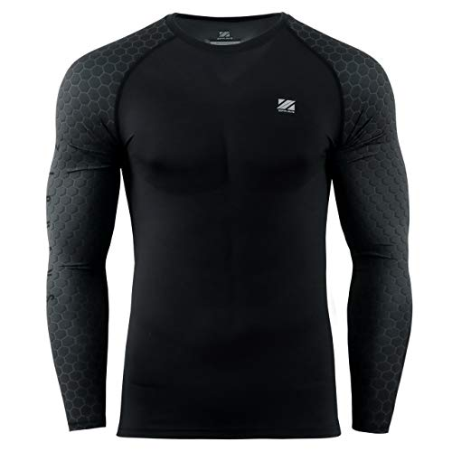 zipravs MMA Kompressions-Shirt, langärmelig XXX-Large ZCDS-203 (Plus Size Kleidung Billig)