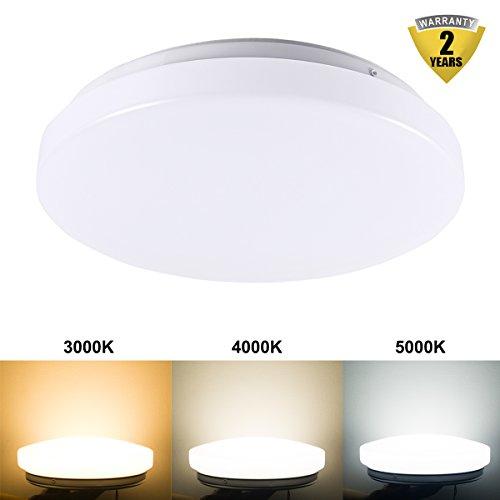 B-right® 10W LED Deckenleuchten, Farbtemperatur schaltbar, LED Deckenlampe, Deckenstrahler, Wandlampe, Badleuchte, 3000K,4000K, 5000K,160° Abstrahlwinkel, 750 Lumen,LED Deckenbeleuchtung für Wohnzimmer, Schlafzimmer, Esszimmer, Badezimmer. Zwei-Jahre-Garantie - Ge-licht-schalter