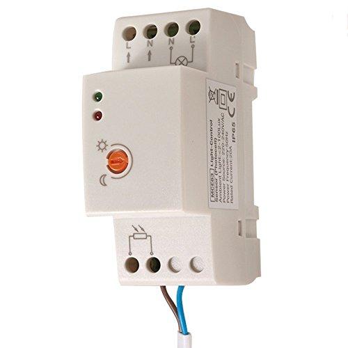 Maclean MCE83 Capteur crépusculaire Interrupteur rail DIN et sonde externe NEUF