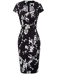 063cae54704946 GRACE KARIN 50s Vintage Retro Rockabilly Kleid Bleistiftkleid Pencil Kleid  Etuikleid