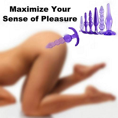 Cómodo Silicona M édica Púrpura 6 Piezas Juguetes Para Parejas Principiantes Ḅùtt AṈḁl...