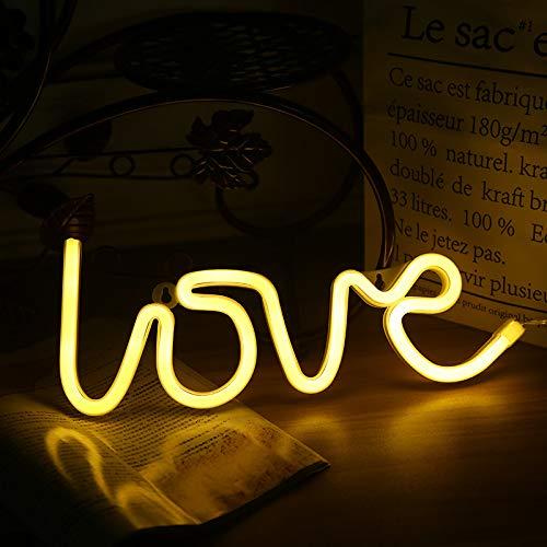 Led Neon Liebe Styling Lampe Dekorative Lampe Schlafzimmer Anhänger Kleine Nachtlampe Gelbes Licht
