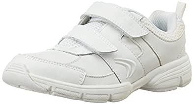 Clarks Boy's Fluency Cross White Leather Sports Shoes - 11 UK
