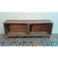 rebajas oferta Modulo con patas de madera 100x25x37 tono envejecido, se pueden fabricar con otros