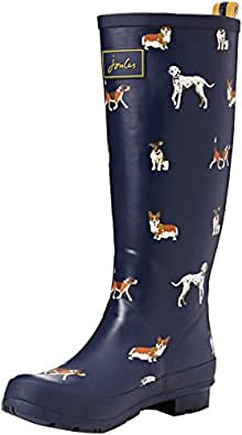 Joules Women's Welly Print Wellington Boots R_WELLYPRINT Navy Dog 3 UK, 36 EU, 5 US