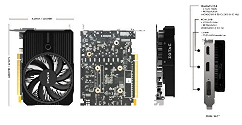 Zotac-Geforce-GTX-1050-ZT-P10500A-10L-Mini-Grafikkarte-2GB