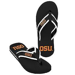 NCAA Oregon State Beavers Men's State Contour Flip Flop, Small, Orange