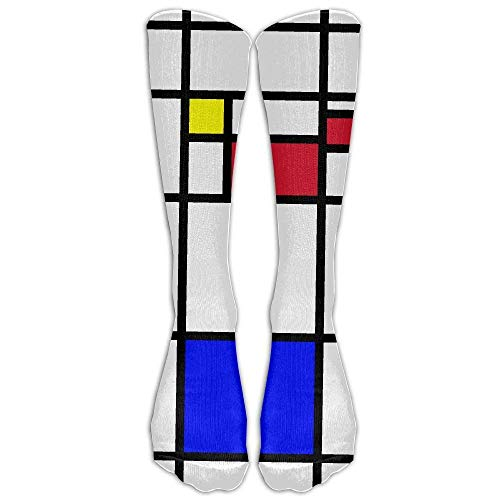 Unisex Mondrian Fashion Calf Tube Stocking Athletic Sock Long Sock One Size - Jobst Open Toe Shorts