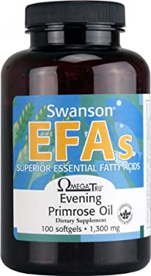 Swanson EFAs OmegaTru Evening Primrose Oil (1,300mg, 100 Softgels) from Swanson Health Products
