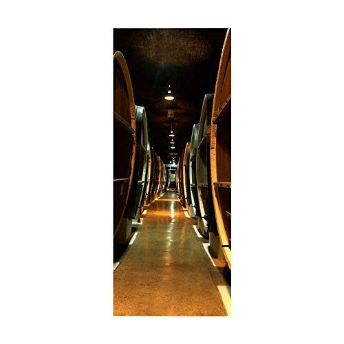 XXXCH 3D Türaufkleber 80X200CM Weinkeller Türtapete selbstklebend TürPoster - Fototapete Türfolie Poster Tapete Meer Aufkleber DIY Selbstklebende Wandbild PVC Wasserdichte Tapete