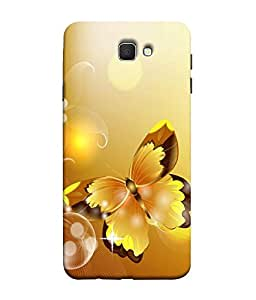 FUSON Designer Back Case Cover for Samsung Galaxy On Nxt (2016) (Butterfly Arts Shining Yellow design )
