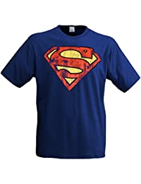 Superman Logo T-Shirt, Superhero Motif, Comic Hero, Casual Retro Print