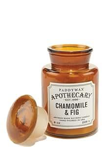 Paddywax Collection d'apothicaire Bougie en pot, sel de mer/sauge, 226,8gram, Chamomile/Fig, 8 Oz