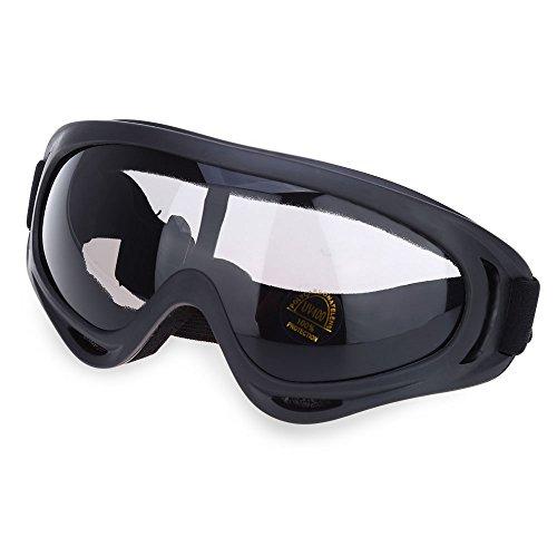 Unicoco X400 Motorrad Radfahren Wind Airsoft Fahrrad Straßenrennen SWAT ATV Gläser Sicherheit Staubdicht Stossschutz PC Brillen Schutzbrille HELLGRAU