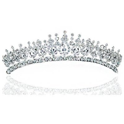 Elegante Kristall Strass Funkelnde Braut Hochzeit Diadem Tiara