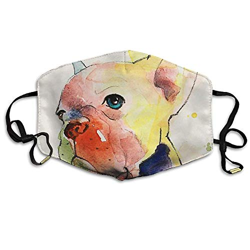 Fashion Outdoor Mouth Mask with Design, Reusable Half Face Mask Anti-dust Mask, Mens Winter Warm Mouth Anti-Dust Flu Face Mask French Bulldog Painting -
