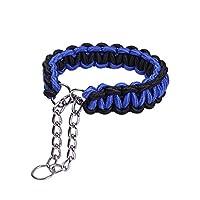 CtopoGo Collier pour Chien, extérieur en nylon et coton Core + Design en acier inoxydable, léger et faite à la main pour animal domestique Dressage pour Chiens Collier de chien, S-XL 24 cm -- 70 cm