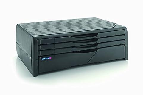 1PLUS Premium Support pour moniteur/imprimante avec 4tiroirs pour documents A4jusqu'à 20kg