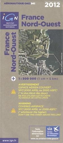 Aéronautique OACI 941 France nord-ouest 2012, 1/500.000