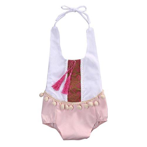 SMARTLADY Body Niña Bebé Haltar de Estilo de Vestido de Algodón (18-24 meses)
