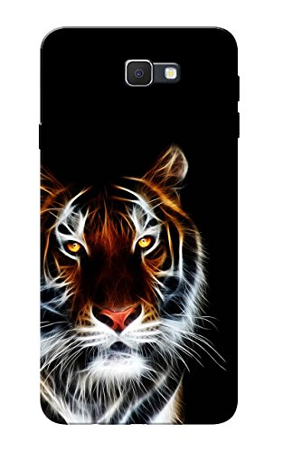 Galaxy J7 Prime Case, Tiger Black Slim Fit Hard Case Cover/Back Cover for Samsung Galaxy J7 Prime  available at amazon for Rs.99