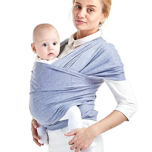 Phiraggit Fular Portabebé, Manta para Lactancia Un Tamaño para Todos - Elastico Porta bebé Wrap para Madre y Padre- Porteo Seguro y Ergonómico, portabebés para recién nacidos hasta 20 kg
