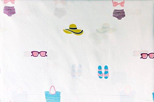 Alex & Zoe Betten 4Stück Queen Size Mikrofaser Bettwäsche Baden Schwimmen Passt Sun Hüte Sonnenbrille Sandalen Beach Staubbeutel