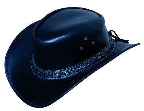 Scippis Leder Westernhut Cowboyhut »FRISCO« Black Gr.M -