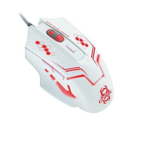 CLiPtec® Viva Pro Verkabelt 3Tasten 1000DPI Optische Maus–schwarz weiß Therius RGS563 (Vaio Weiße Maus)