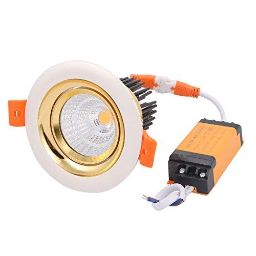 sourcing map AC85-240V 10W 3000K 24° Lampe LED Downlight Spotlight Plafond avec Driver