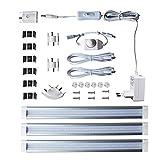 3X 4W Lampaous Dimmbar LED Unterbaulicht Küchenleuchte Vitrinenbeleuchtung Schrankleuchte Streifen Naturweiß mit Dimmer