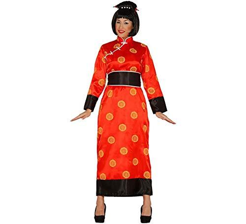 Kimono China Rotes Damen Kostüm Tunika Gewand in Gr. M - L, Größe:M