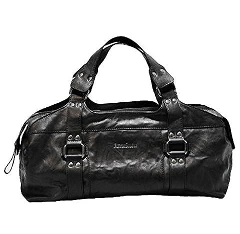 BACCINI Handtasche GRETA - Henkeltasche - Damentasche echt Leder schwarz