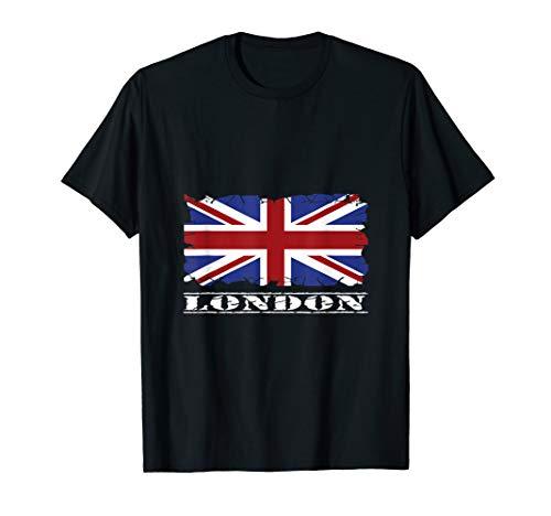 Vintage London Shirt Britische Flagge Union Jack T-Shirt (Großbritannien Halloween-kostüme London)