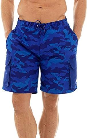 Tom Franks Imprimer Camouflage Shorts de Natation Bleu Grand