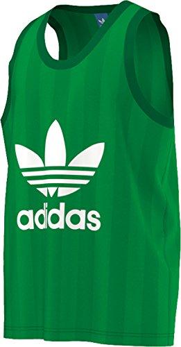 Adidas Trefoil Tank Canotta Uomo, Verde, L