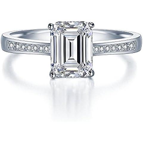 Secondo le donne Micro s-Anello in argento STERLING, pavé a metà-Anello Eternity a fascia da matrimonio, anniversario, con finti diamanti, marchiato