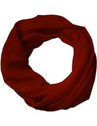 c2183abd9dd886 MANUMAR Loop-Schal für Damen einfarbig | feines Hals-Tuch in Unifarben als  perfektes Herbst Winter Accessoire |…