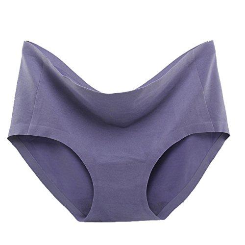 POKWAI Women 's Klassische Unterwäsche Seamless Briefs In Der Taille Beflockung Matratze Bequemen Breathable Wilden Super Bequemes 3 Pack A4