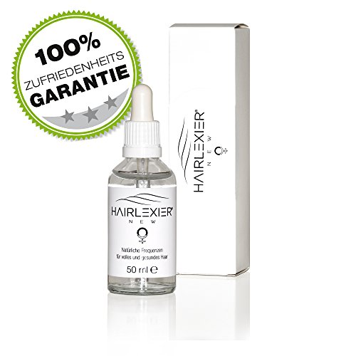 Hairlexier Haarwuchsmittel für Frauen, 80 Prozent Erfolgsquote, Haarserum gegen Haarausfall, Haarwachstum anregen ohne Hormone, Made in Germany, 50 ml