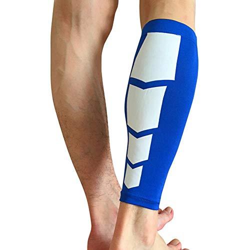 YMCHE Wadenbandage, Kompressionsstrümpfe, Beinschmerzen, Sport-Beinstrümpfe, Sportausrüstung, Blue C, M