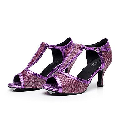 da Balli Personalizzabile da danza Sneakers donna Scarpe Jazz pelle Da Nero Moderno Finta americani moderna ballo Black latino Quadrato Pvxwq