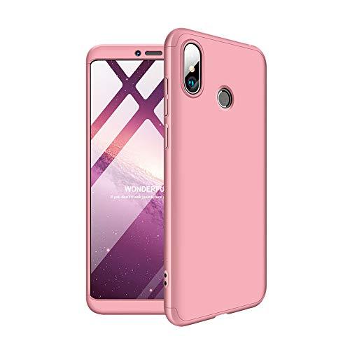 Aidinar Xiaomi Mi MAX 3 Funda, Bumper y Anti-Scratch, Estuche Rígido de 360 Grados Estuche Completo para Xiaomi Mi MAX 3 (Rosa)