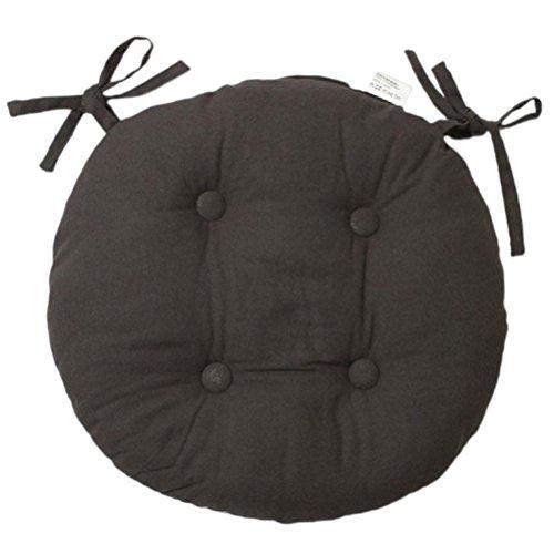 009031 Soleil d'Ocre Panama-Cojín redondo para silla algodón, Gris, acolchada, diámetro de 40 cm